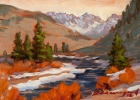 Gore Valley Trail 8x6in (sold)