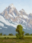 Portrait of the Grand Teton 9x12 in