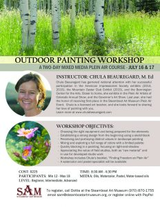 Outdoor painting workshop flyer 1600