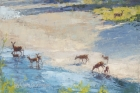 River Deer 24x36in SOLD