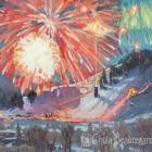 Ski Town Celebration II 18x24