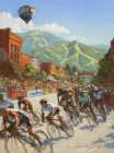 Bike Town Races 16x12in (sold)