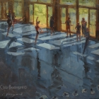 """Dancers in the Pavilion 20""""x24"""""""