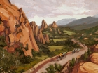 Rolling Through the Garden of the Gods 9x12in (sold)