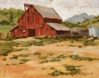 Fetcher Barn in Regal Red 8x10in (sold)